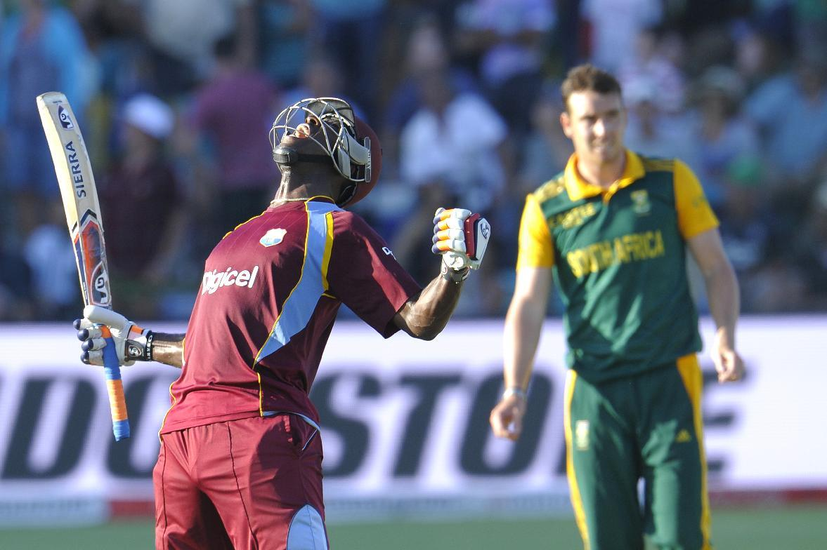 Russell blasts Windies to thrilling one-wicket win