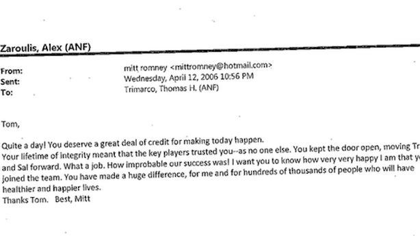 Long Lost Emails Show Just How Much Romney Loved the Individual Mandate