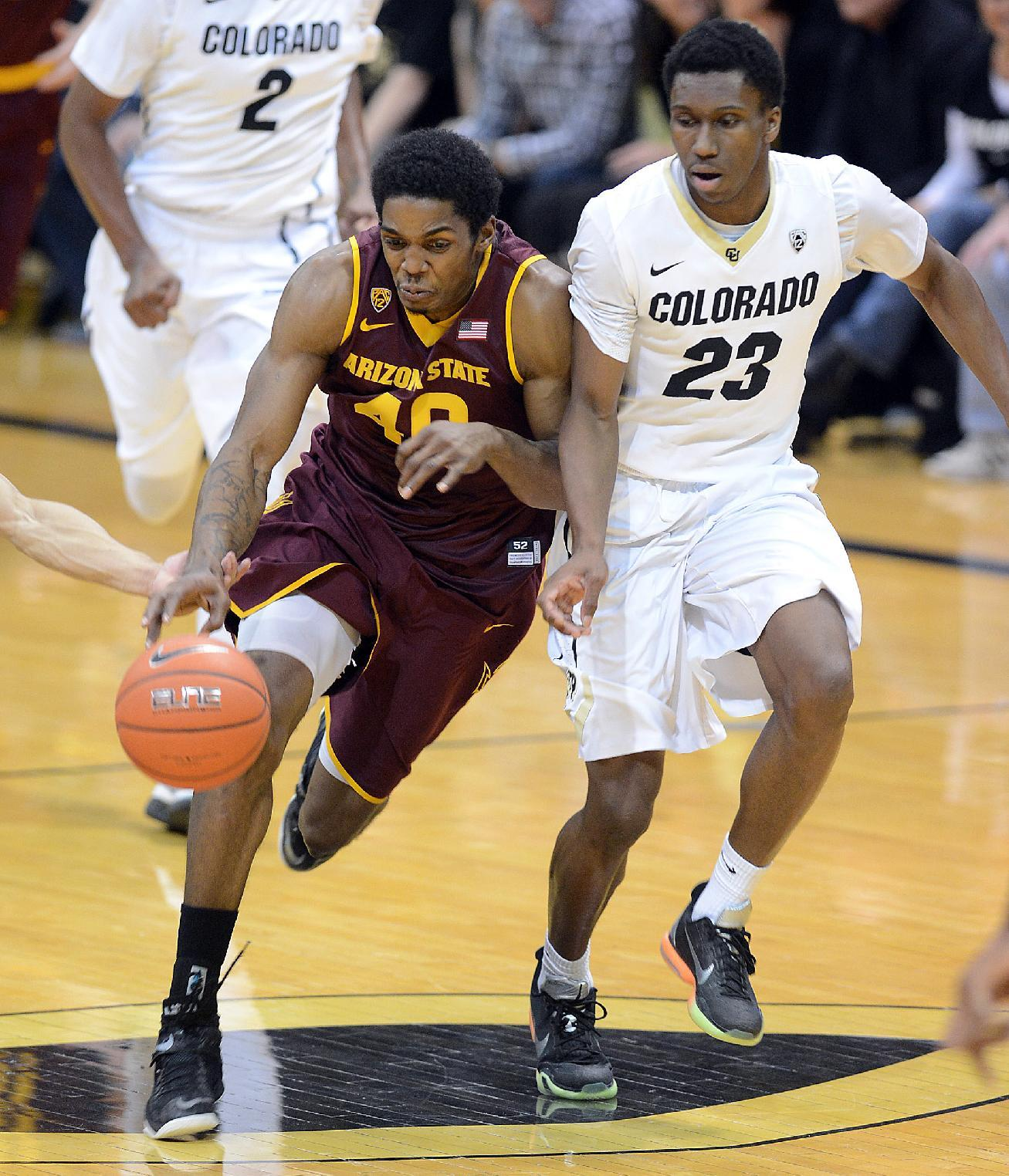 Colorado beats Arizona State 87-81 behind Booker's 29 points