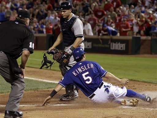 Rangers beat Yankees 7-3 for 6th series win in row