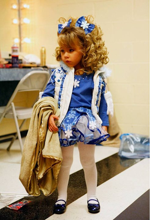 "Daylee (age 2) backstage at the Southern Celebrity Beauty Pageant in Charleston, West Virginia as seen in ""Toddlers & Tiaras."""