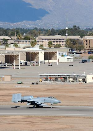 This undated photo provided by the U.S. Air Force shows Davis-Monthan Air Force Base near Tucson, Ariz. The base was on lockdown Friday afternoon, Sept. 16, 2011 amid unconfirmed reports of gunfire. (AP Photo/U.S. Air Force)