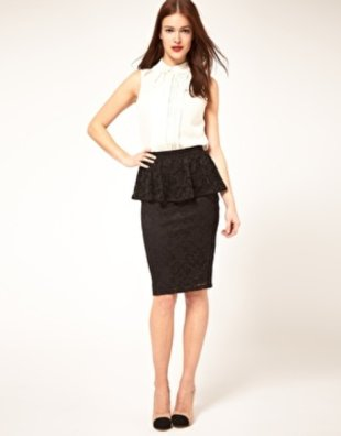 Feeling feminine? Try peplum with lace!