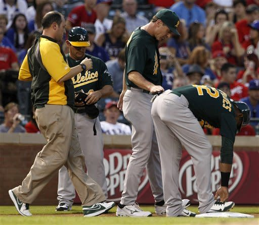 A's win 9-3 at Texas, only 3 games back in AL West