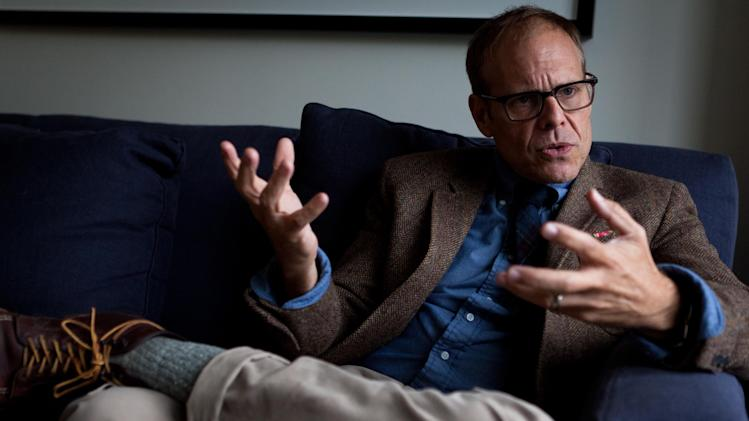 Food Network star Alton Brown speaks during an interview on Saturday, Oct. 1, 2011, in New York. Brown has recently published his third and last print installment of his best selling Good Eats series of cook books and is actively moving into innovative e-books. (AP Photo/John Minchillo)