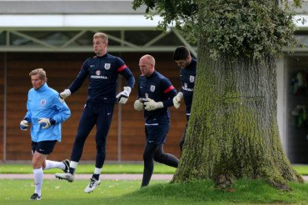 Soccer - FIFA World Cup Qualifying - Group H - England v Poland - England Training Session - London Colney