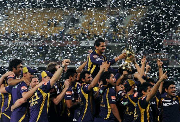 Kokatta Knight Riders celebrate after be