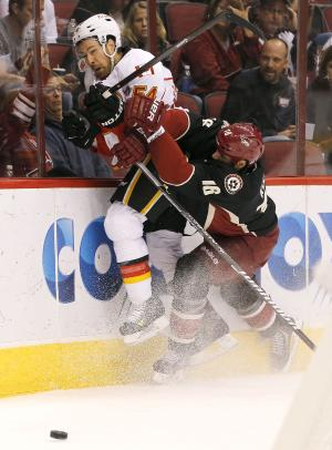Ribeiro leads Coyotes to 4-2 win over Flames