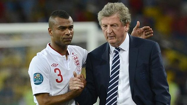 Ashley Cole and Roy Hodgson