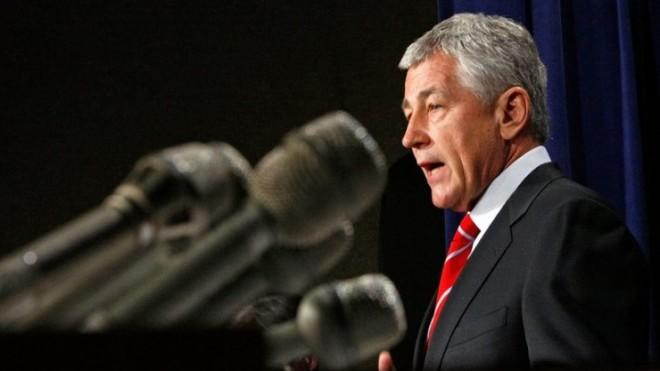 """""""I think the Pentagon needs to be pared down,"""" Hagel, the nominee to head the Pentagon, once said."""