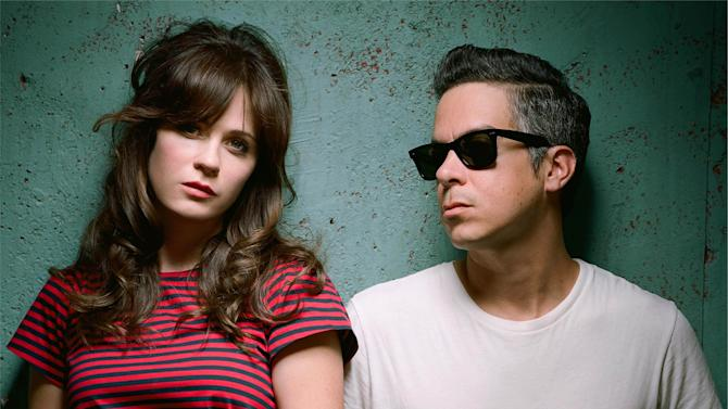 "This 2014 photo provided by The Fun Star shows musicians, Zooey Deschanel, left, and M. Ward from She & Him. Their new album, ""Classics,"" releases Tuesday, Dec. 2, 2014. (AP Photo/The Fun Star, Autumn DeWilde)"