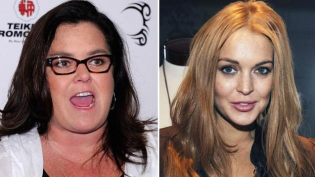 Rosie O'Donnell and Lindsay Lohan -- Getty Images