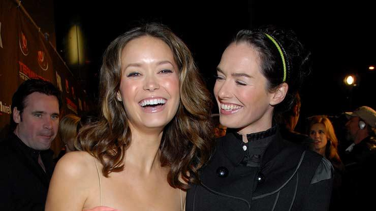 Summer Glau and Lena Headey at the premiere of Terminator: The Sarah Connor Chronicles.