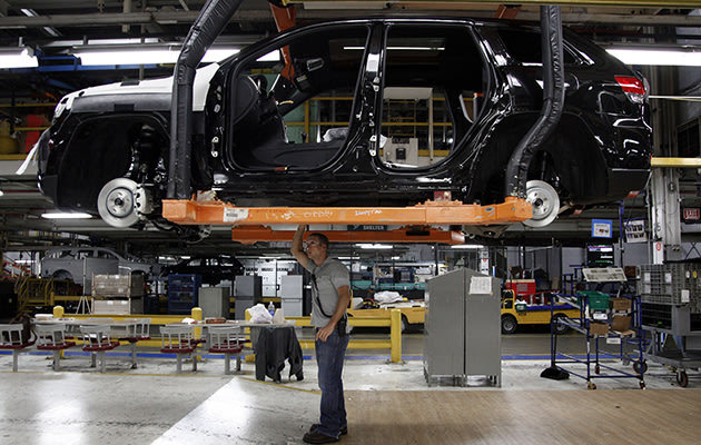 Chrysler Assembly plant in Detroit. (AP Photo/Paul Sancya)