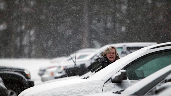 Northeast gets some snow; New England gets most
