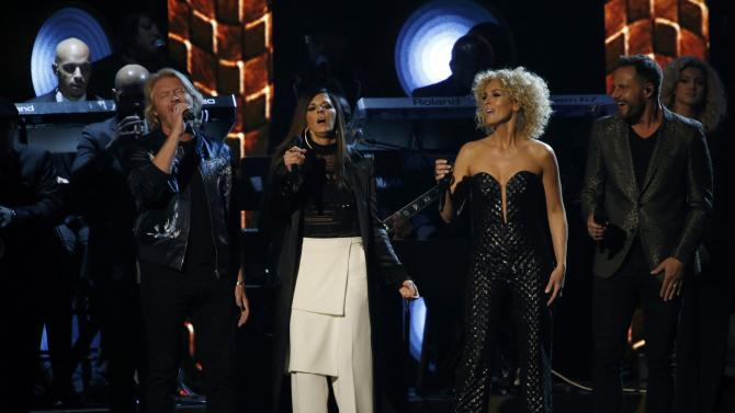 Little Big Town performs a medley at the 2016 MusiCares Person of the Year gala in Los Angeles