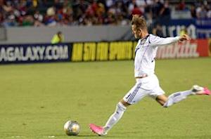 David Beckham returns to full training for Los Angeles but weekend status uncertain