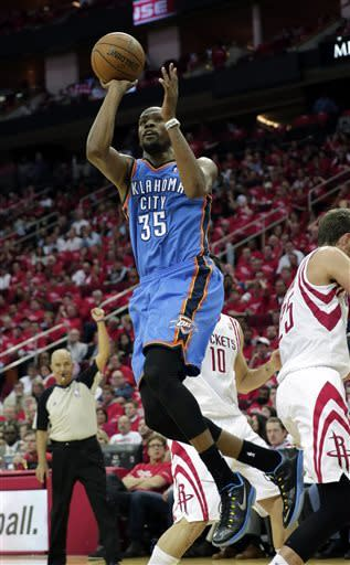 Rockets survive with 105-103 win over OKC
