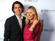 Sasha Vujacic and fiancee Maria Sharapova attend the TAG Heuer Formula 1 Lady Steel and Ceramic Pavee watch launch in Istanbul on November 1, 2011  -- Getty Images
