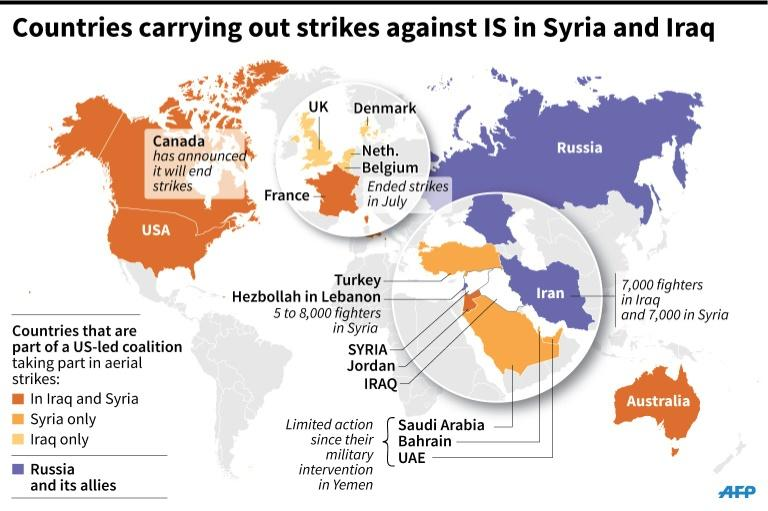 Many players, divergent interests in anti-IS fight