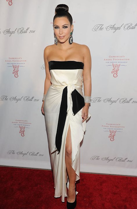 Kim Kardashian attends Gabrielle's Angel Foundation for Cancer Research Hosts Angel Ball 2011 at Cipriani, Wall Street on October 17, 2011 in New York City.