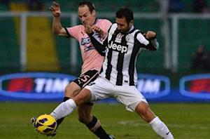 Palermo 0-1 Juventus: Lichtsteiner earns three points for returning Conte
