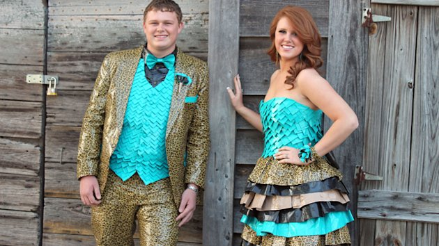 Couple Wears Duct Tape Outfits to Prom (ABC News)