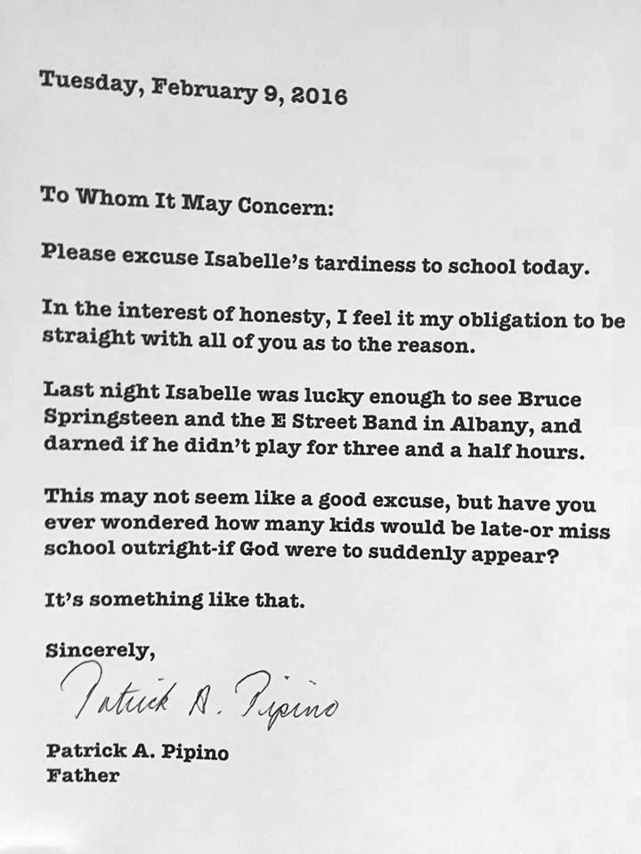Dad's Hilarious Note to School: 'This May Not Seem Like a Good Excuse...'