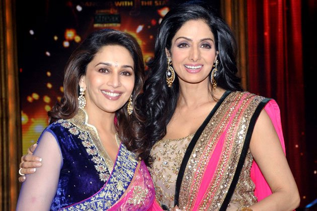 Sridevi and Mashuri on the dance floor