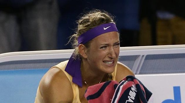 Victoria Azarenka tears
