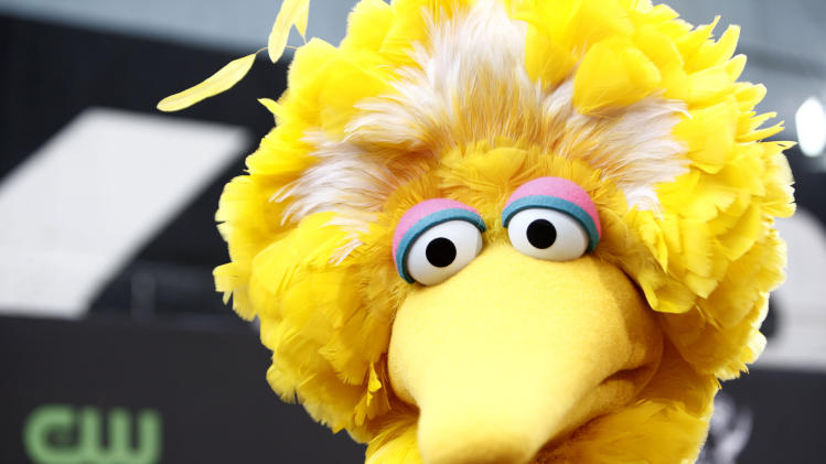 FILE - This Aug. 30, 2009 file photo shows Big Bird, of the children's television show Sesame Street, in Los Angeles. Big Bird is endangered. Jim Lehrer lost control. And Mitt Romney crushed President Barack Obama. Those were the judgments rendered across Twitter and Facebook Wednesday during the first debate of the 2012 presidential contest. While millions turned on their televisions to watch the 90-minute showdown, a smaller but highly engaged subset took to social networks to discuss and score the debate as it unspooled in real time.  (AP Photo/Matt Sayles, File)
