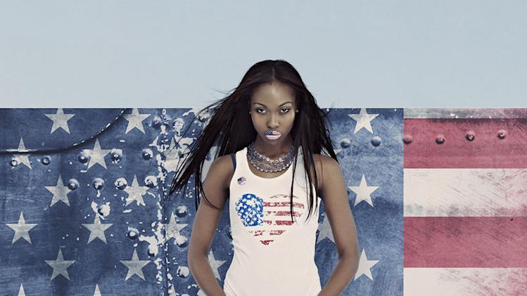 "Candace competes in Cycle 18 of ""America's Next Top Model."""