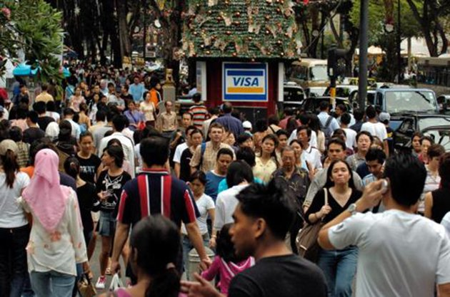 People walking on Orchard Road in Singapore. (Getty Images file photo)