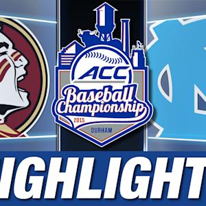 Florida State vs North Carolina | 2015 ACC Baseball Championship Highlights