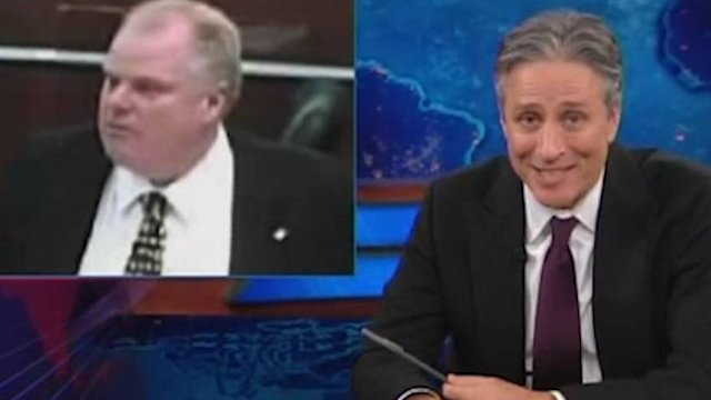 Toronto Mayor Rob Ford mocked on 'The Daily Show'