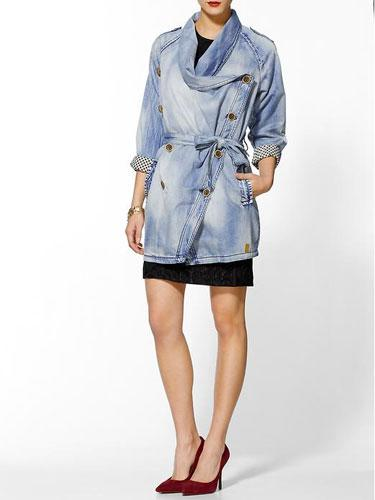 Numph Jessica Denim Trench