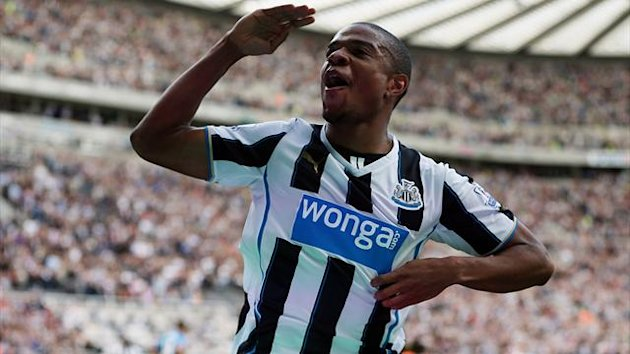 Newcastle United's French striker Loic Remy celebrates scoring his team's first goal (Getty Images)