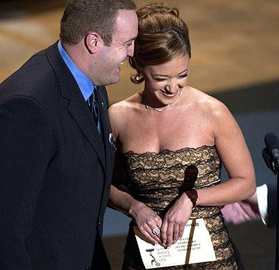 Kevin James and Leah Remini 53rd Annual Emmy Awards - 11/4/2001