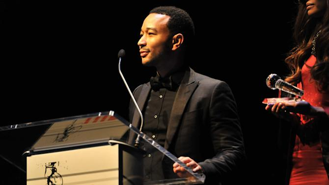 John Legend is seen at the Hip-Hop Inaugural Ball on Sunday, Jan. 20, 2013 in Washington. (Photo by Larry French/Invision/AP)
