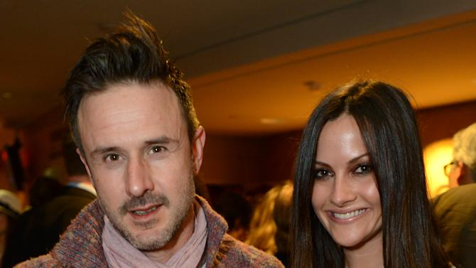 """David Arquette and Christina McLarty attend the opening night of """"The Gift"""" at the Geffen Playhouse on Wednesday, Feb. 6, 2013 in Westwood, Calif. (Photo by Jordan Strauss/Invision/AP Images)"""