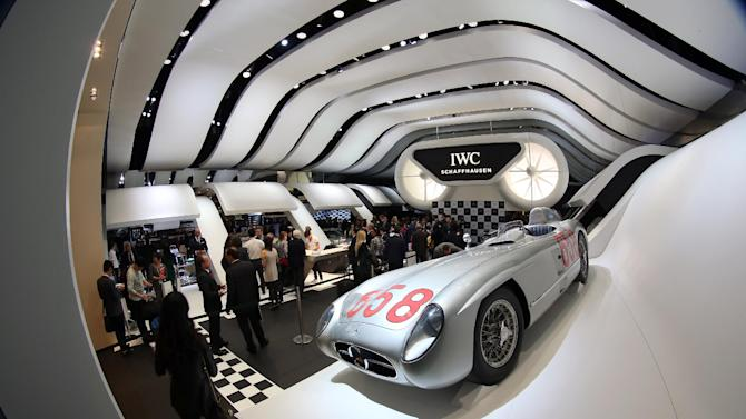 IMAGE DISTRIBUTED FOR IWC SCHAFFHAUSEN  -  General atmosphere at the IWC booth during the Salon International de la Haute Horlogerie (SIHH) 2013 at Palexpo in Geneva, Switzerland, on Jan. 22, 2013. (Chris Jackson/Photopress for IWC via AP Images)