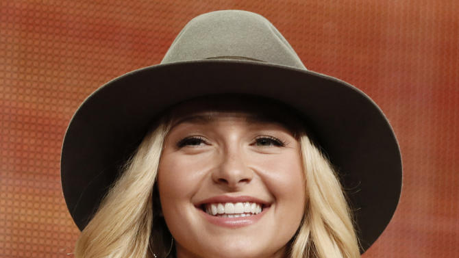 "FILE - In this Friday, July 27, 2012 file photo, Hayden Panettiere attends the ""Nashville"" panel at the Disney ABC TCA Day 2 at the Beverly Hilton Hotel in Beverly Hills, Calif. While Panettiere is pretending to be a country music singer on TV, she's learning how to be one in real life. (Photo by Todd Williamson/Invision/AP, File)"