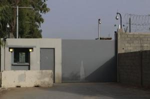 Entrance of the compounds of the U.S. embassy is pictured in Tripoli