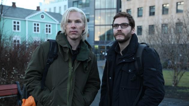 Benedict Cumberbatch as Julian Assange and Daniel Brühl as Daniel Domscheit-Berg in 'The Fifth Estate' -- Walt Disney Studios
