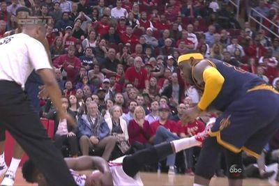 James Harden just kicked LeBron James in the groin
