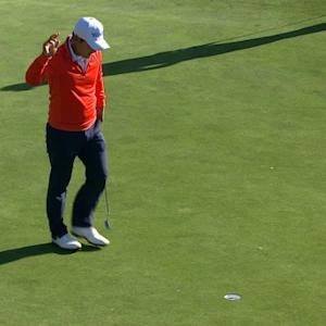 Sung Kang's approach to 6 feet yields birdie at AT&T Pebble Beach
