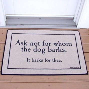 Dog-themed Door Mat
