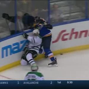 David Backes Hit on Trevor Daley (13:22/2nd)