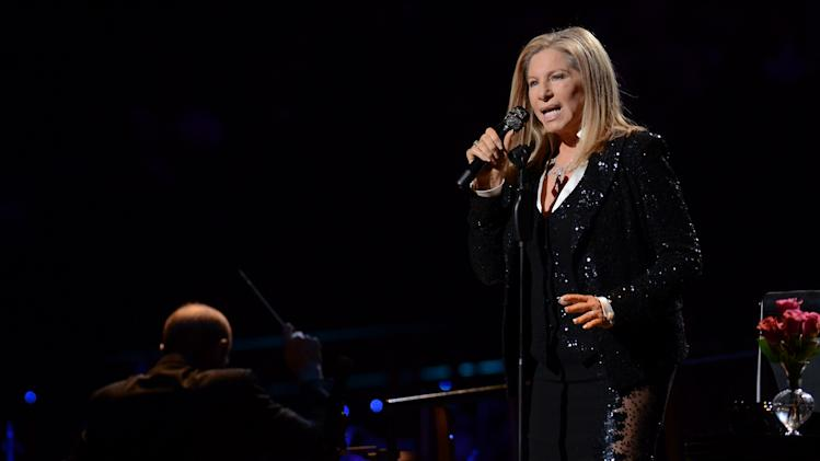 Singer Barbra Streisand kicks off her concerts in Brooklyn at the Barclays Center on Thursday Oct. 11, 2012 in New York. (Photo by Evan Agostini/Invision/AP)