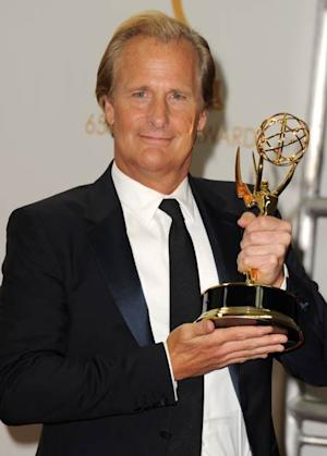 Jeff Daniels poses in the press room during the 65th Annual Primetime Emmy Awards held at Nokia Theatre L.A. Live on September 22, 2013 in Los Angeles -- Getty Images
